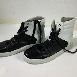 Men's Kenneth Cole Black and White High Tops